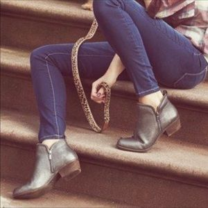 Lucky Brand Silver Ankle Booties